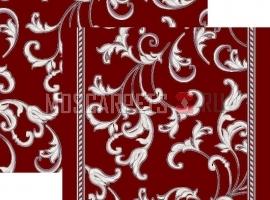 Палас Кружева 1288/85 жемчужно-бордовый