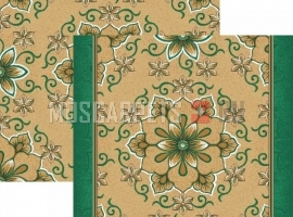 Палас Медальон 936/36 бежево- зеленый
